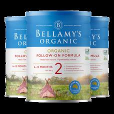 【新西兰直邮】贝拉米 Bellamy's 有机配方奶粉二段 6罐包邮