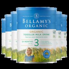 【新西兰直邮】贝拉米 Bellamy's 有机配方奶粉三段 6罐包邮