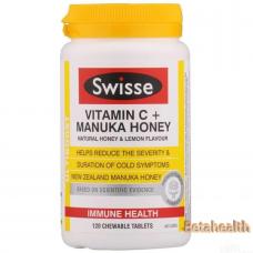 Swisse 维生素C+麦卢卡蜂蜜120粒