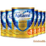 【新西兰直邮】Aptamil爱他美金装婴幼儿奶粉1段6罐包邮 900g