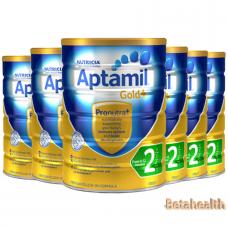 【新西兰直邮】Aptamil爱他美金装婴幼儿奶粉2段6罐包邮 900g