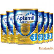 【新西兰直邮】Aptamil爱他美金装婴幼儿奶粉3段6罐包邮 900g